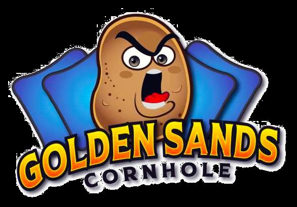 Golden Sands Cornhole Logo