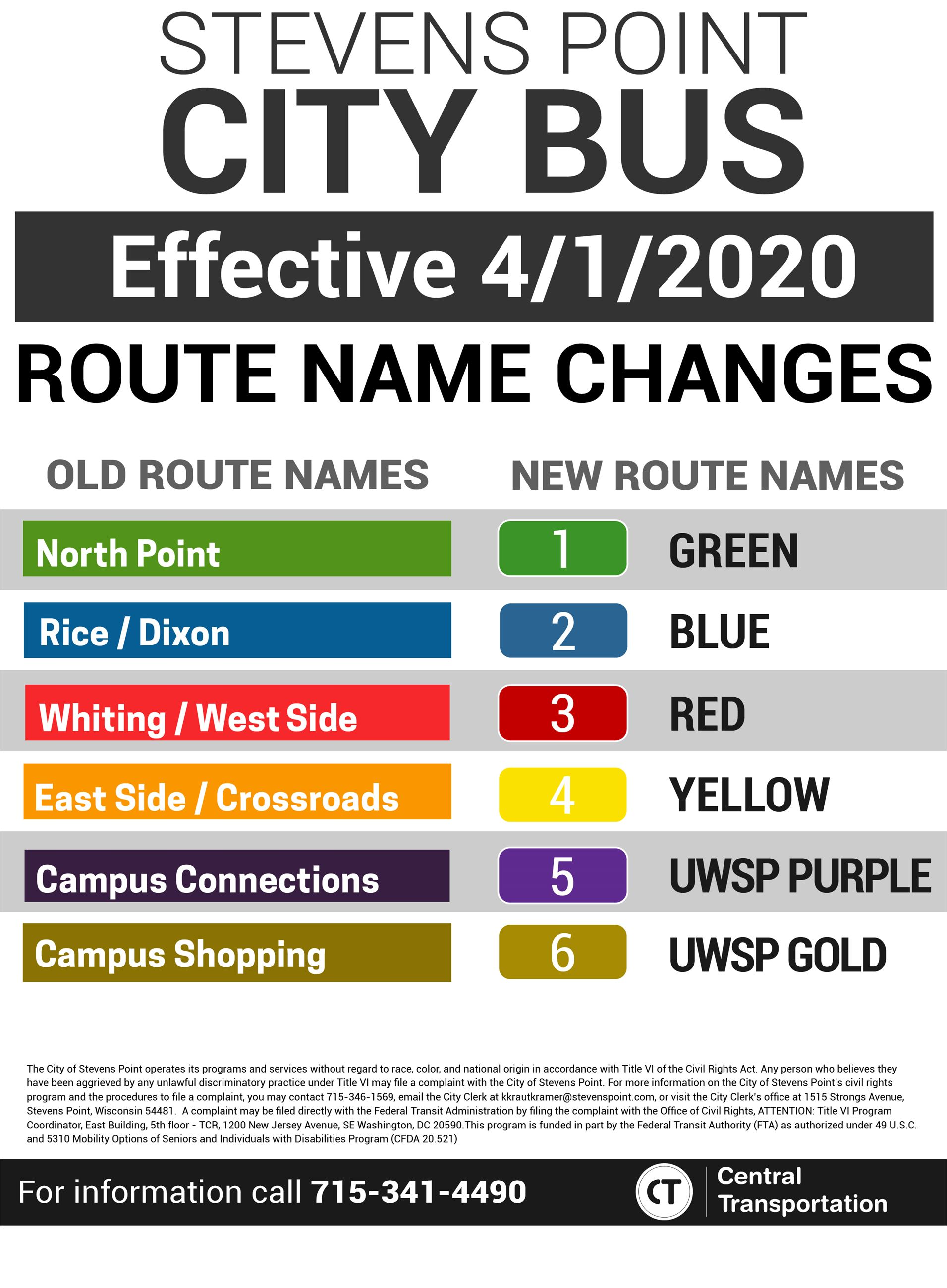 New Bus Route Names