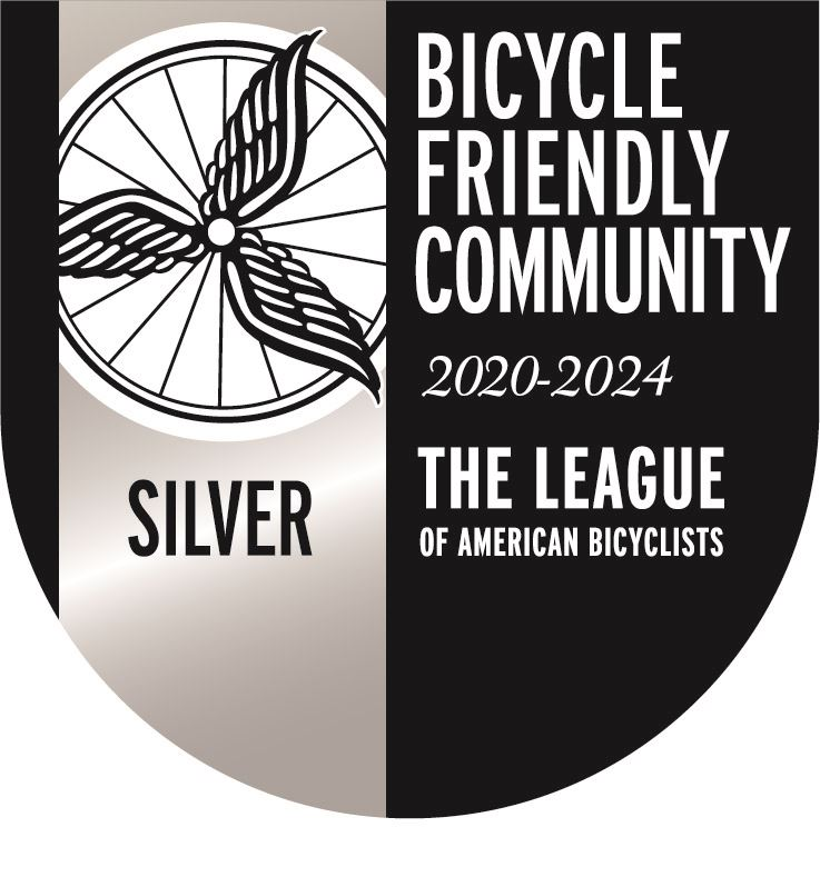 Bicycle Friendly Community Silver Seal