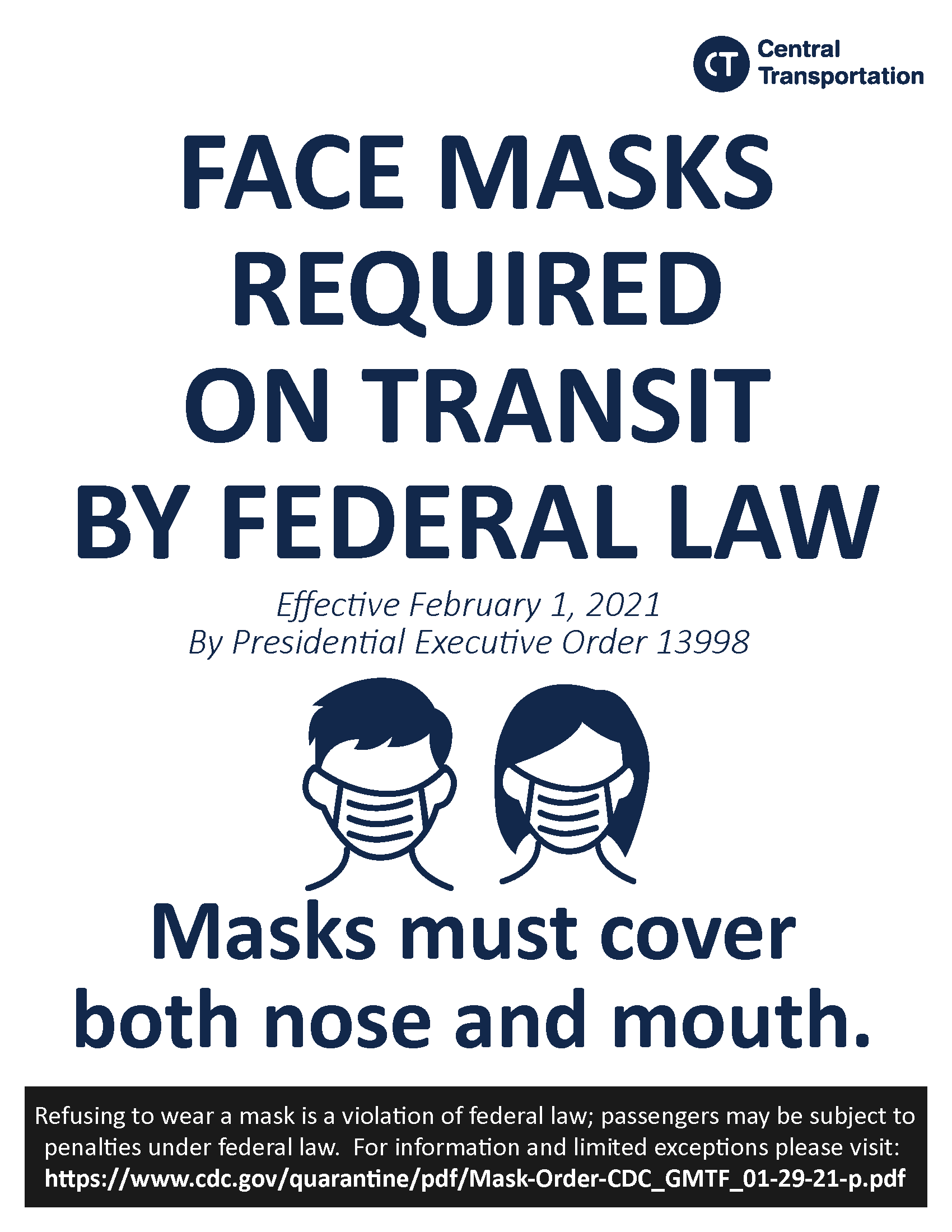 Mask Poster For Bus