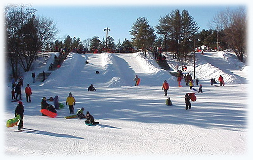 Sled Hills in Iverson Park